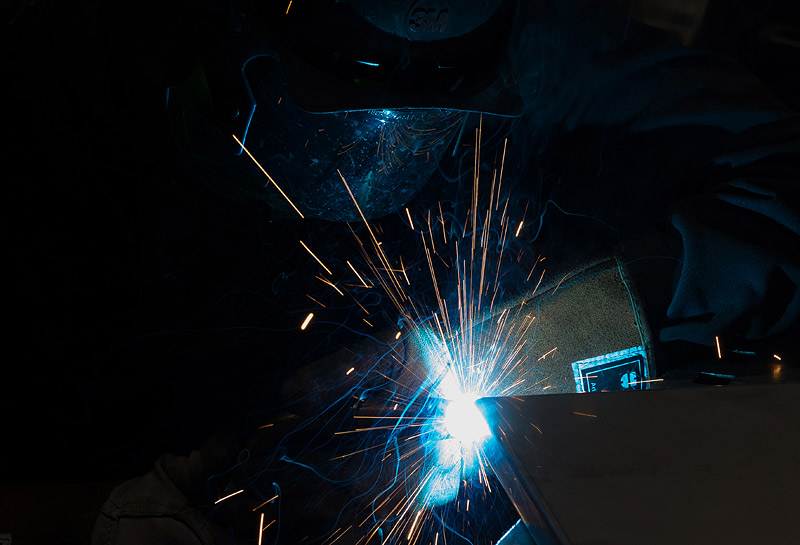 Welding as part of the production process